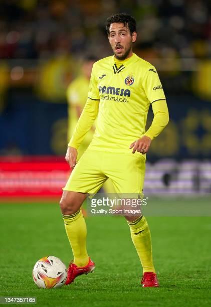 Daniel Parejo of Villarreal CF in action during the La Liga Santander match between Villarreal CF and CA Osasuna at Estadio de la Ceramica on October...