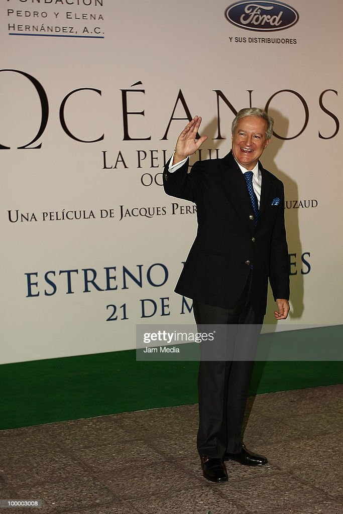 Daniel Parfait poses for a photograph at the green carpet of the movie ?Oceanos? at the National Auditorium on May 19, 2010 in Mexico City, Mexico.