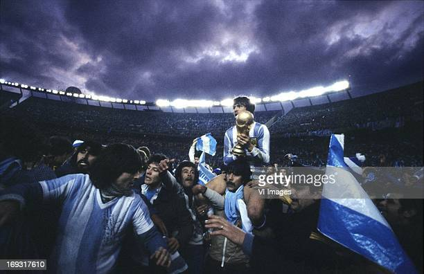 Daniel Passarella during the FIFA World Cup final match between Argentina and The Netherlands on June 25 1978 at the Estadio Monumental Antonio...