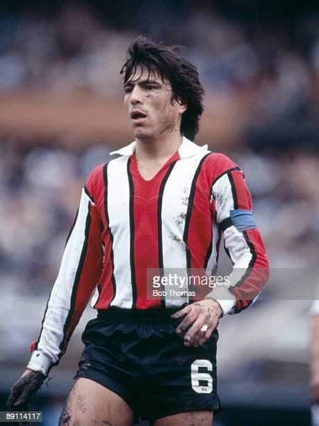 Daniel Passarella in action for River Plate in Buenos Aires, Argentina, circa 1981.