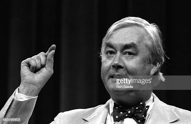 Daniel Patrick Moynihan attends Democratic National Convenetion on August 11 19890 at Madison Square Garden in New York City