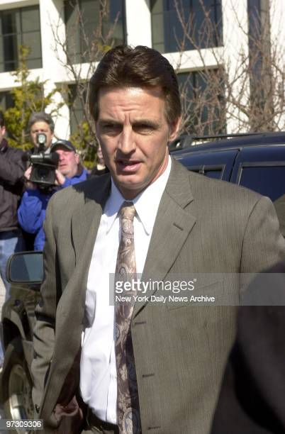 Daniel Pelosi arrives at Riverhead LI court for his arraignment in the Hamptons murder of millionaire Ted Ammon Prosecutors charged that Ammon was...