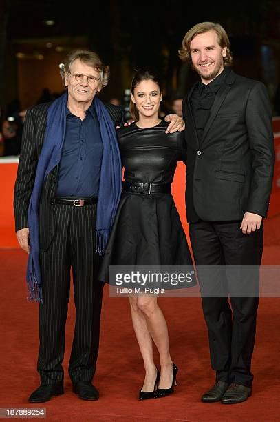 Daniel Pennac actress Melanie Bernier and director Nicolas Bary attend the 'Au Bonheur Des Ogres' Premiere during The 8th Rome Film Festival at...