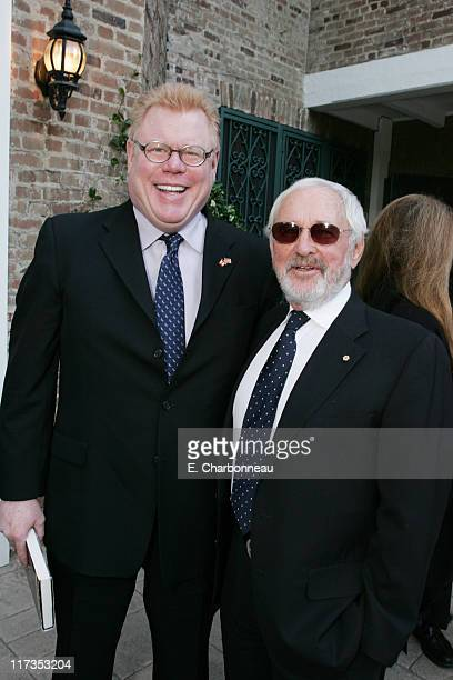 Daniel Petrie Jr. And Norman Jewison during Norman Jewison Book Signing Hosted by Alain Dudoit, Consul General of Canada at Canadian Residence in Los...