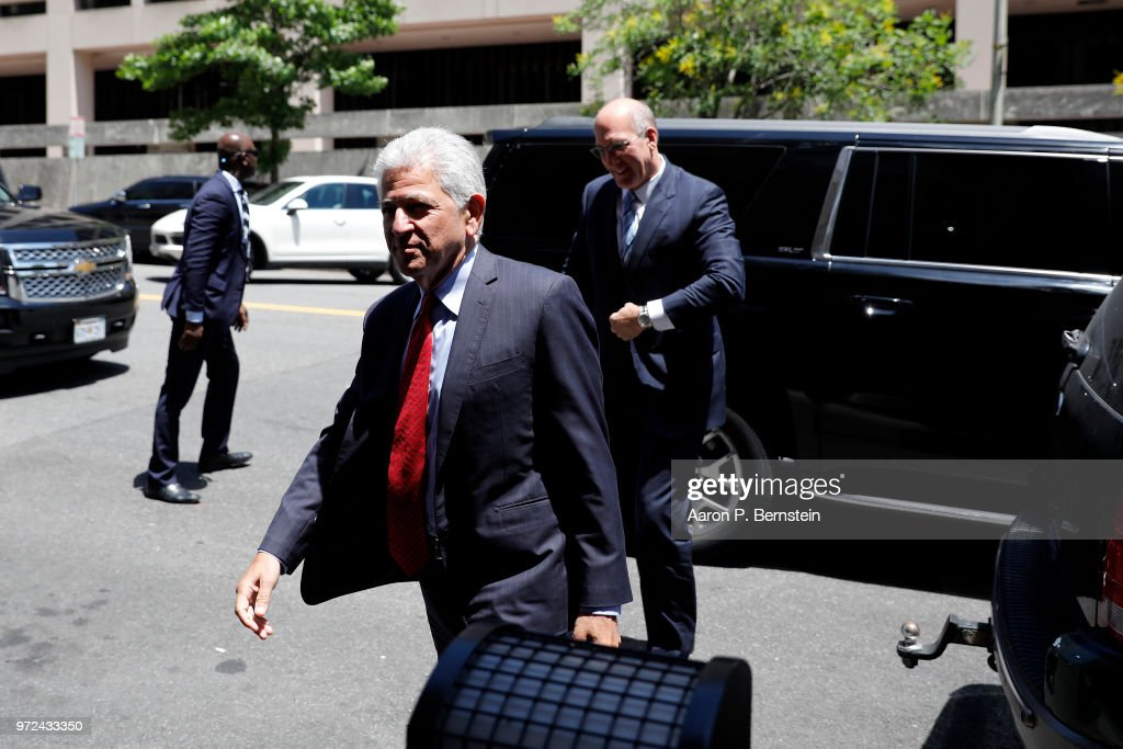 Daniel Petrocelli, lead attorney for AT&T and Time Warner, arrives at U.S. District Court on June 12, 2018 in Washington, DC. The Justice Department is suing to block the purchase of Time Warner by AT&T.