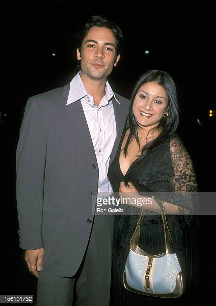 Daniel Pino and Lily Bernal during 2001 WB Television Network Uprfront AllStar Party at The light House Chelsea Piers Pier 61 in New York City New...