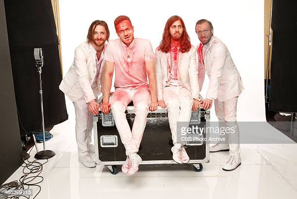 Daniel Platzman Dan Reynolds Wayne Wing Sermon and Ben McKee of Imagine Dragons pose for a portrait in the CBS/GRAMMY Awards photo gallery during the...