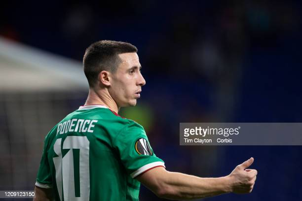 Daniel Podence of Wolverhampton Wanderers during the Espanyol V Wolverhampton Wanderers UEFA Europa League round of 32 second leg match at RCDE...