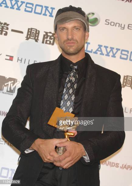 Daniel Powter winner of Best Album of the Year during MTV Video Music Awards Japan 2007 Press Room at Saitama Super Arena in Saitama Japan