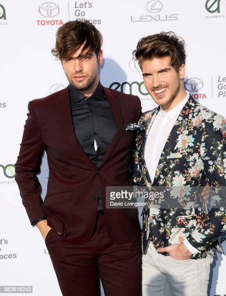 Daniel Preda and actor Joey Graceffa attend the 27th Annual EMA Awards at Barker Hangar on September 23 2017 in Santa Monica California