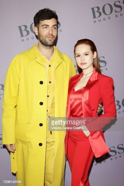 Daniel Preda and Madelaine Petsch attend the BOSS fashion show during the Milan Fashion Week Fall/Winter 2020 2021 on February 23 2020 in Milan Italy