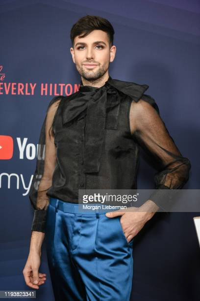 Daniel Preda arrives at the 9th Annual Streamy Awards at The Beverly Hilton Hotel on December 13 2019 in Beverly Hills California