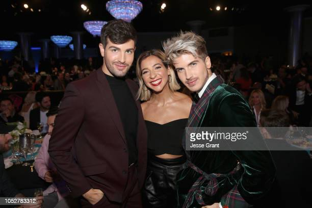 Daniel Preda Gabbie Hanna and Joey Graceffa attend The 8th Annual Streamy Awards at The Beverly Hilton Hotel on October 22 2018 in Beverly Hills...