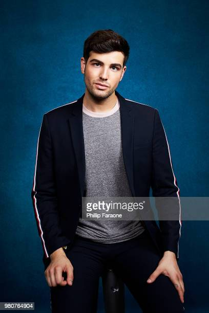 Daniel Preda poses for a portrait at the Getty Images Portrait Studio at the 9th Annual VidCon US at Anaheim Convention Center on June 21 2018 in...