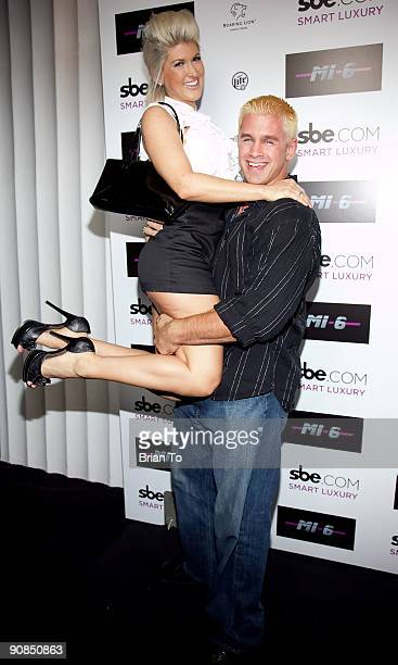 Daniel Puder and Cassandra Moore attend Mi6 Nightclub Grand Opening Party on September 15 2009 in West Hollywood California