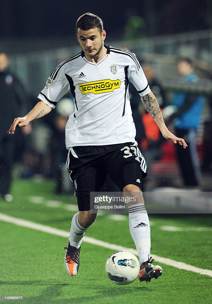 Daniel Pudil of Cesena in action during the Serie A match ...