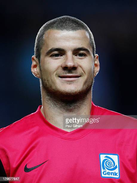 Daniel Pudil of Genk looks on prior to the UEFA Champions League group E match between Chelsea and Genk at Stamford Bridge on October 19 2011 in...