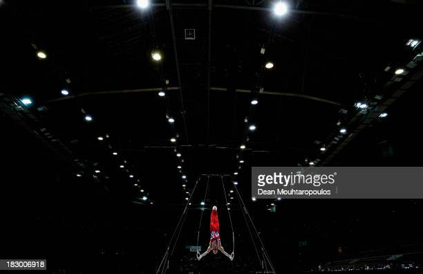 Daniel Purvis of Great Britain competes in the Rings during the Mens AllAround Final on Day Four of the Artistic Gymnastics World Championships...
