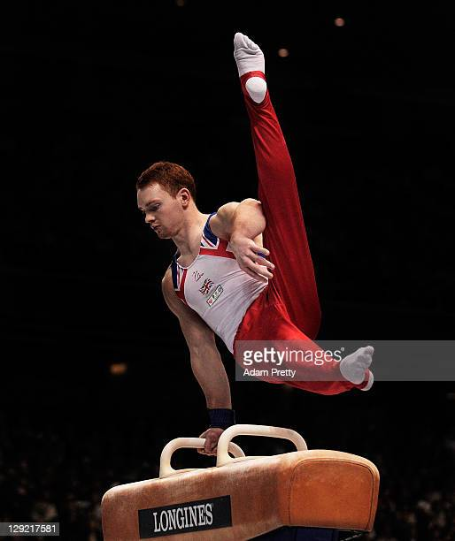 Daniel Purvis of Great Britain on he Pommel Horse in the Men's All Around Final during day eight of the Artistic Gymnastics World Championship Tokyo...