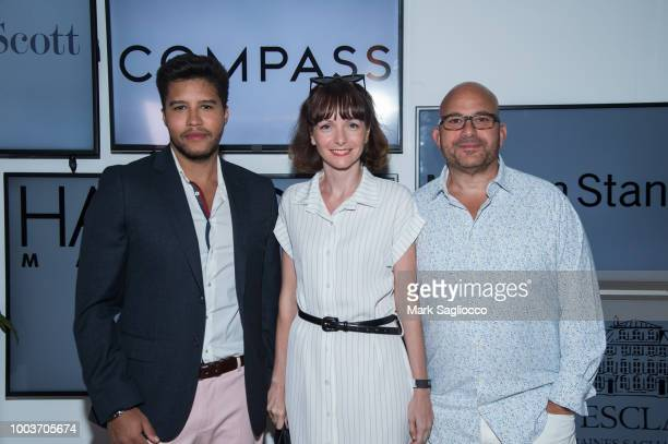 Daniel Queiroz Marilisa Barbieri and Ron Kaye attend Hamptons Magazine's 40th Anniversary Bash by Lawrence Scott Events presented by Compass at...