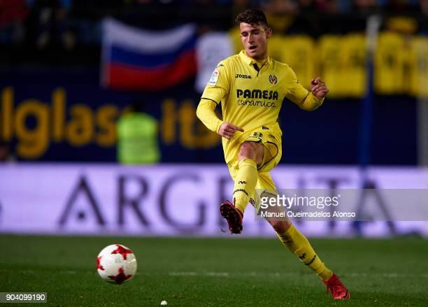Daniel Raba of Villarreal in action during the Copa del Rey Round of 16 second Leg match between Villarreal CF and Leganes at Estadio de La Ceramica...