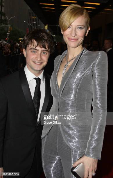 Daniel Radcliffe and Cate Blanchett attend the 64th Annual Tony Awards at Radio City Music Hall on June 13 2010 in New York City