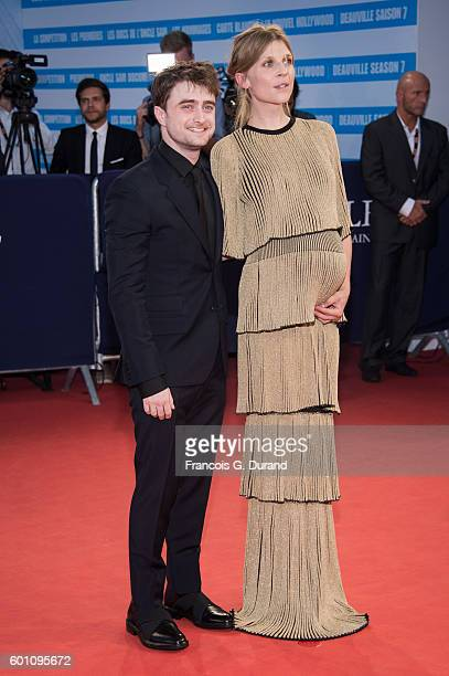 Daniel Radcliffe and Clemence Poesy arrive at the 'Imperium' Premiere during the 42nd Deauville American Film Festival on September 9 2016 in...