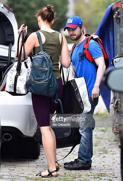 Daniel Radcliffe and Erin Darke are seen in the West Village on August 10 2016 in New York City