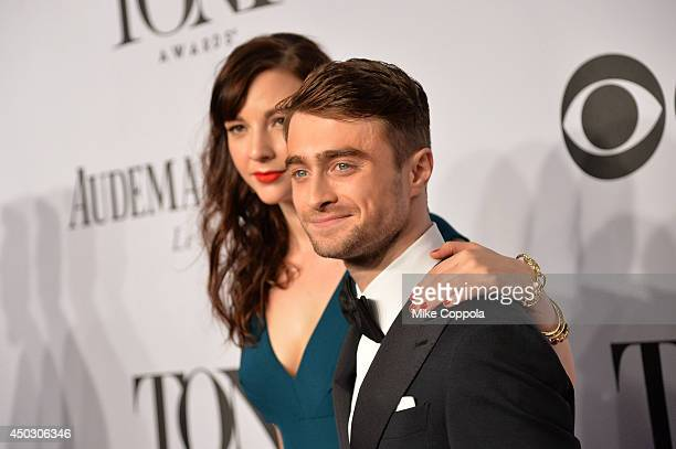 Daniel Radcliffe and Erin Darke attend the 68th Annual Tony Awards at Radio City Music Hall on June 8 2014 in New York City
