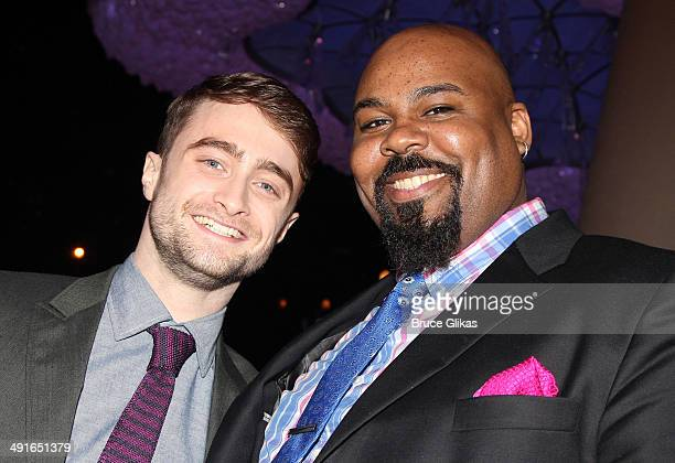 Daniel Radcliffe and James Monroe Iglehart pose at the 80th Annual Drama League Awards Ceremony and Luncheon at The Marriot Marquis Times Square on...