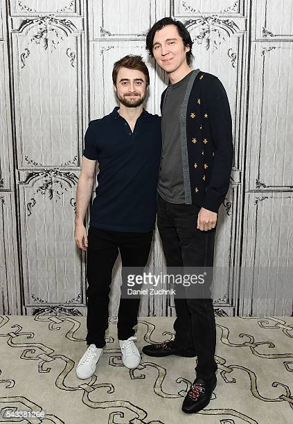 Daniel Radcliffe and Paul Dano attend AOL Build to discuss the movie 'Swiss Army Man' at AOL Studios on June 27 2016 in New York City