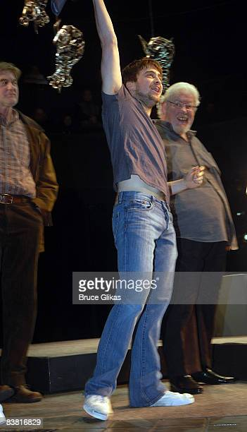 Daniel Radcliffe and Richard Griffiths auction off the Lucky Brand jeans worn in Equus for Broadway Cares/Equity Fights AIDS on Broadway at the...