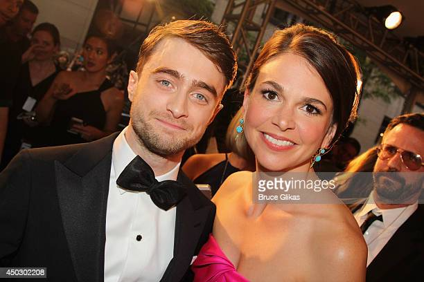 Daniel Radcliffe and Sarah Greene attend the American Theatre Wing's 68th Annual Tony Awards at Radio City Music Hall on June 8 2014 in New York City