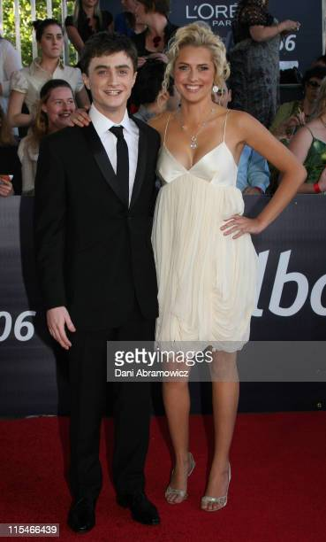 Daniel Radcliffe and Teresa Palmer during L'Oreal Paris 2006 AFI Awards Arrivals at Melbourne Exhibition Centre in Melbourne VIC Australia