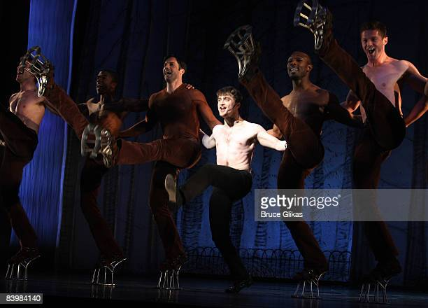 Daniel Radcliffe and the cast of Equus perform a song and dance at the 2008 Gypsy of the Year which raised $3148 for Broadway Cares/Equity Fights...