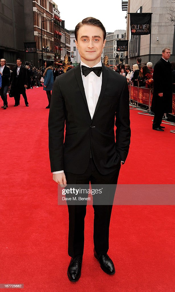 Daniel Radcliffe arrives at The Laurence Olivier Awards 2013 at The Royal Opera House on April 28, 2013 in London, England.