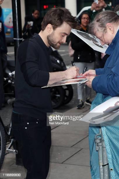 Daniel Radcliffe at BBC Radio 2 on January 16, 2020 in London, England.
