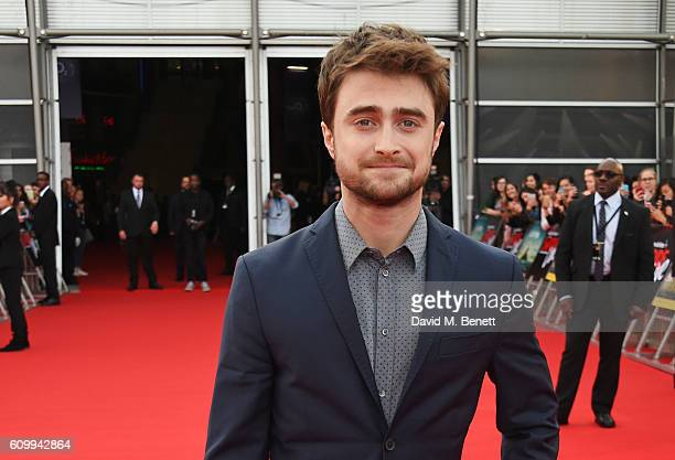Daniel Radcliffe attends the Empire Live Swiss Army Man Imperium double bill gala screening at Cineworld 02 Arena on September 23 2016 in London...