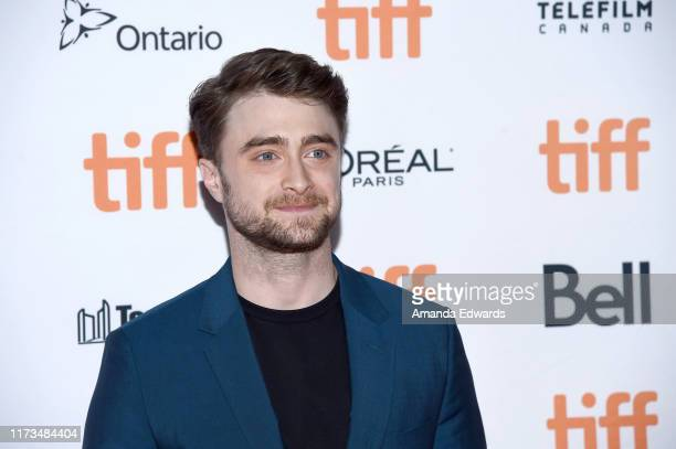 "Daniel Radcliffe attends the ""Guns Akimbo"" premiere during the 2019 Toronto International Film Festival at Ryerson Theatre on September 09, 2019 in..."