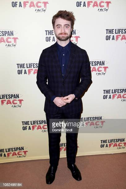 Daniel Radcliffe attends 'The Lifespan of A Fact' opening night after party at Brasserie 8 1/2 on October 18 2018 in New York City