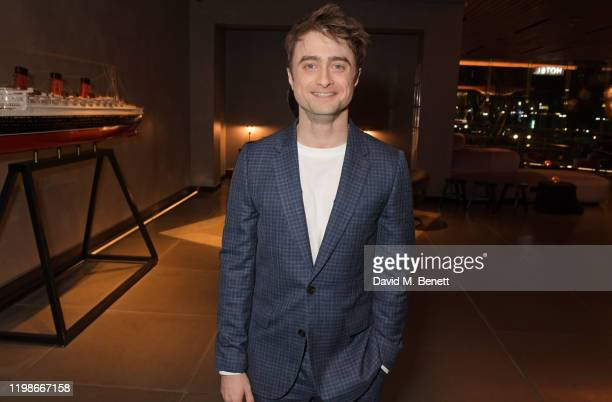 """Daniel Radcliffe attends the press night after party for """"Endgame"""" at Sea Containers on February 4, 2020 in London, England."""