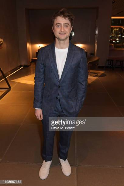 "Daniel Radcliffe attends the press night after party for ""Endgame"" at Sea Containers on February 4, 2020 in London, England."