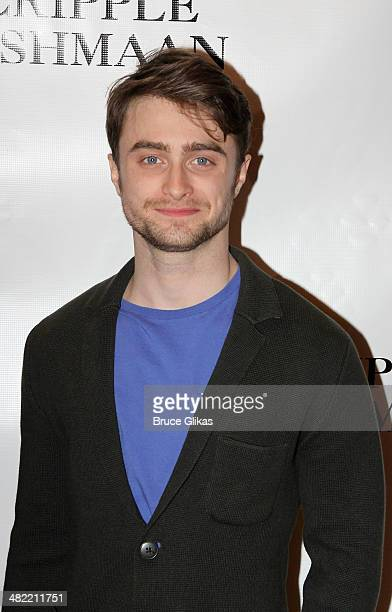 Daniel Radcliffe attends the 'The Cripple Of Inishmaan' Broadway Cast Photo Call at Signature Theater on April 2 2014 in New York City
