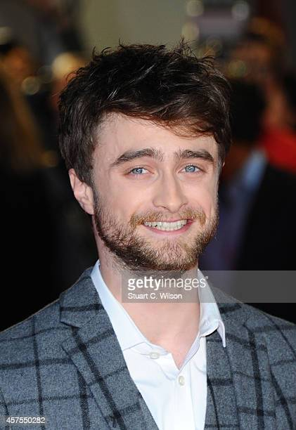 Daniel Radcliffe attends the UK Premiere of Horns at Odeon West End on October 20 2014 in London England