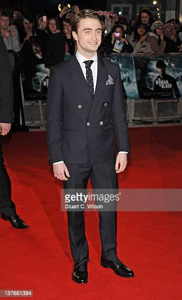 Daniel Radcliffe attends the World Premiere of 'The Woman In Black' at the Royal Festival Hall on January 24 2012 in London England
