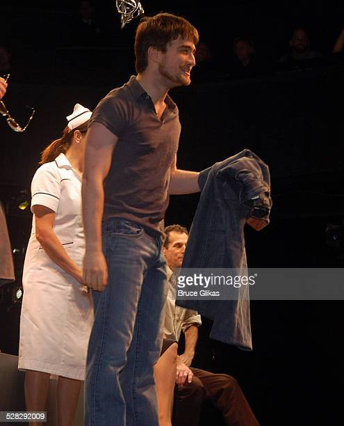 Daniel Radcliffe auctions off the Lucky Brand jeans worn in Equus for Broadway Cares/Equity Fights AIDS on Broadway at the Broadhurst Theatre on...
