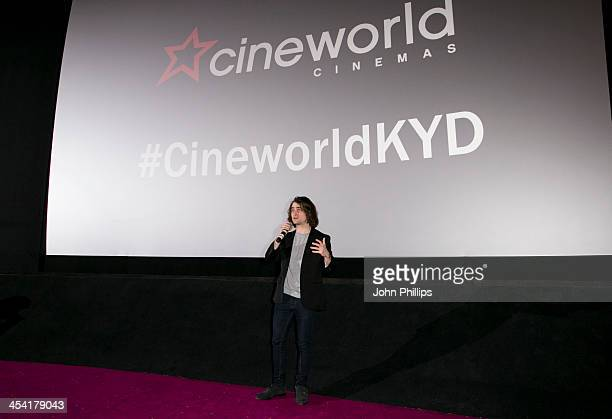 Daniel Radcliffe delights fans with a special appearance before the screening of 'Kill Your Darlings' at Cineworld Haymarket on December 7 2013 in...