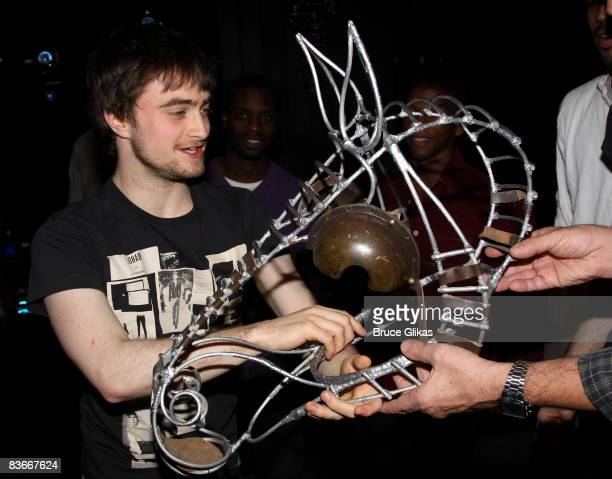 Daniel Radcliffe during a unveiling of an original prop from the original Equus from 1974 at The Broadhurst Theatre on November 12 2008 in New York...