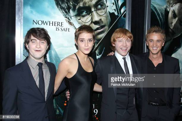 Daniel Radcliffe Emma Watson Rupert Grint and Tom Felton attend New York Premiere of HARRY POTTER AND THE DEATHLY HALLOWS at Alice Tully Hall on...