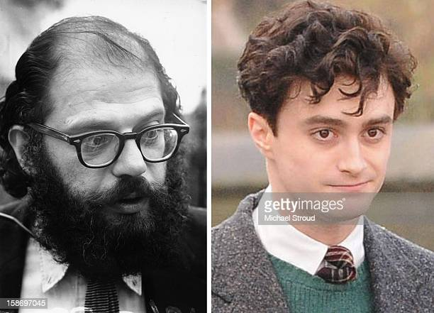 In this composite image a comparison has been made between poet Allen Ginsberg and actor Daniel Radcliffe Actor Daniel Radcliffe will play poet Allen...